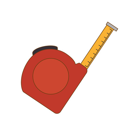 instrument of measurement: meter tool  measurement object construction instrument indicator vector illustration