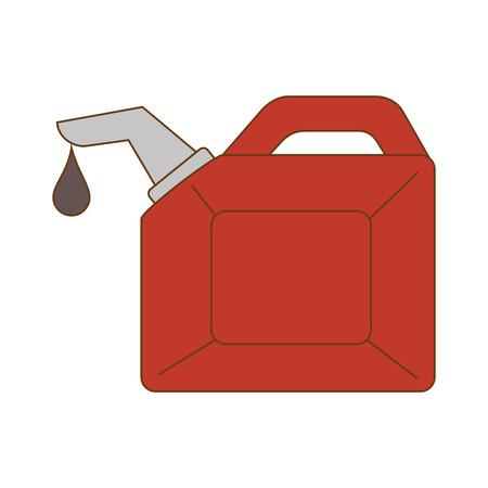 oil bottle container drop liquid gallon handle vector illustration Illustration