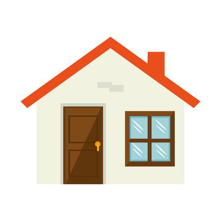 residential home: house home building property residential real estate vector illustration Illustration