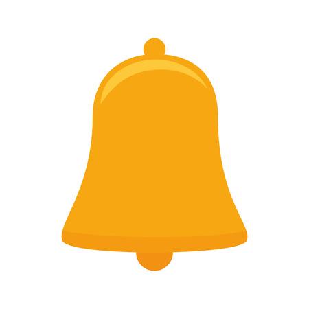 anillo de la campana de la decoración tintineo de alerta ilustración instrumento objeto elemento del vector