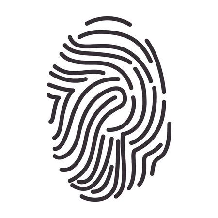 identidad personal: fingerprint identity id human fingermark personal identification vector illustration Vectores