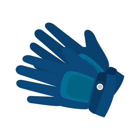 winter sport: gloves accessory winter sport wear cold vector illustration