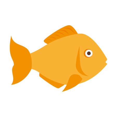 animal fauna: fish marine animal fauna ocean sea life cartoon vector illustration Illustration
