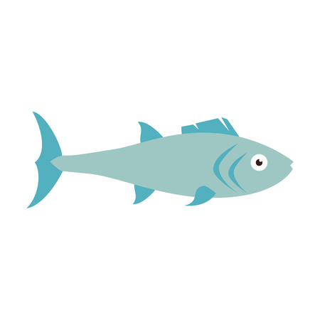 fauna: fish marine animal fauna ocean sea life cartoon vector illustration Illustration