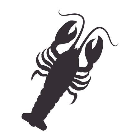 pincers: lobster sea animal water seafood nature ocean cartoon vector illustration