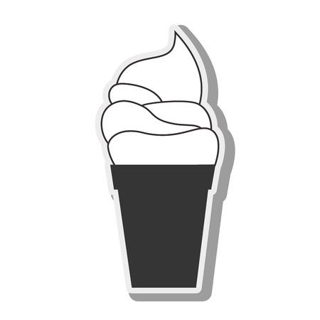 frozen treat: ice cream sweet dessert creamy cold food vector illustration Illustration