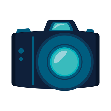 digicam: camera photography electronic equipment technology device vector illustration Illustration