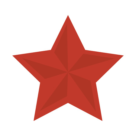 red star shape decoration element insignia vector illustration