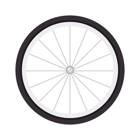 spoke: wheel bike bicyclist sport spoke object tire vector illustration Illustration