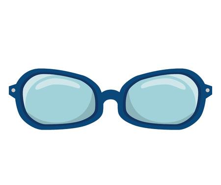 eyewear: glasses accessory eyewear optical vision lens optical vector illustration Illustration