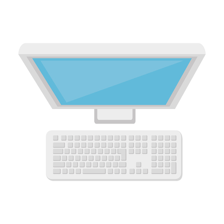 pc monitor: monitor pc computer screen device technology electronic vector illustration