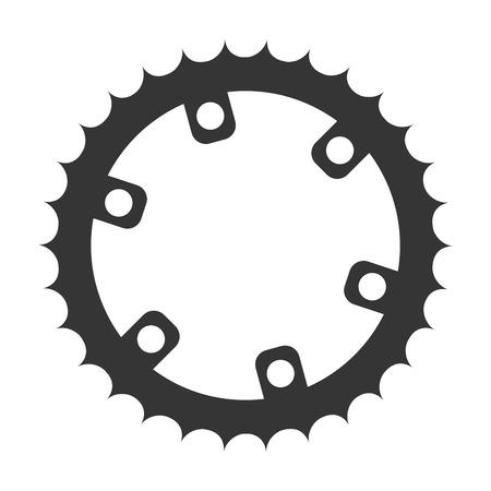 gear bike wheel cog bicycle mechanical equipment vector illustration