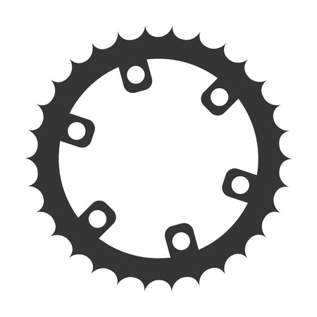 gear bike wheel cog bicycle mechanical equipment vector illustration