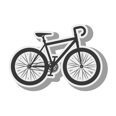 vitality: bicycle bike vehicle transport sport activity silhouette vector illustration