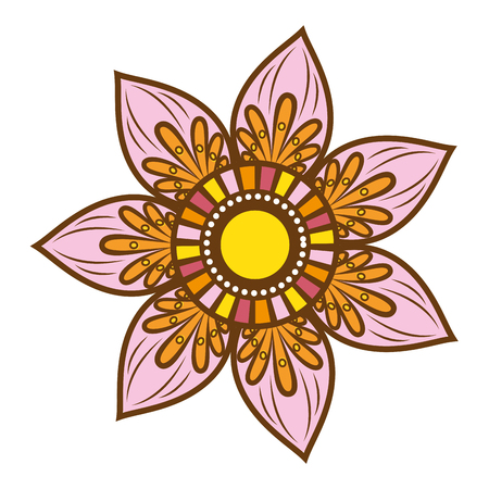 weave: bohemian mandala ethnic vintage decorative floral pattern element vector illustration