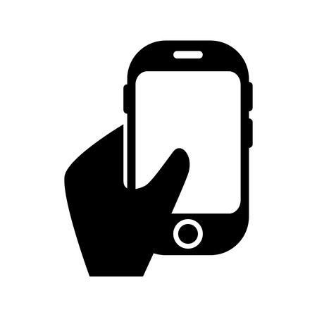 mobile device: smartphone phone mobile cellular technology and communication device vector illustration