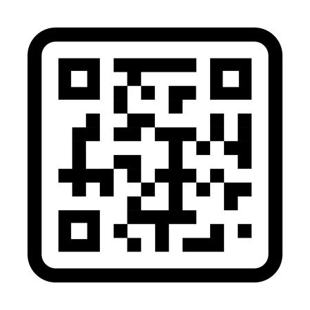 quick response: qr quick response code black squares barcode technology vector illustration