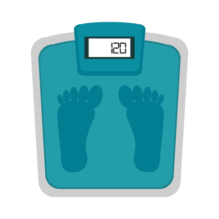 weigh machine: scale weight foot measure balance fitness lifestyle vector illustration