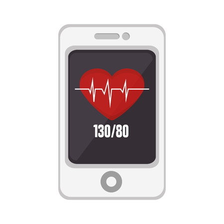 mobile application: smartphone mobile healthy application heart cardio application vector illustration