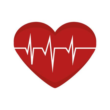 pulsating: heart cardiogram  rhythm graph health medicine silhouette vector illustration