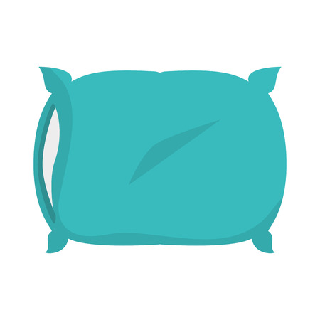 softy: pillow soft comfortable cushion bed interior home room decoration vector illustration