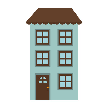 residential home: apartment house home real estate residential traditional property vector illustration Illustration