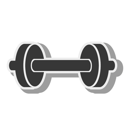 gym equipment: dumbbell weights gym equipment fitness lifestyle silhouette vector illustration Illustration