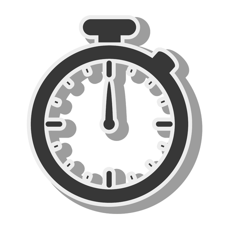 training device: chronometer device time countdown counter button training vector illustration Illustration