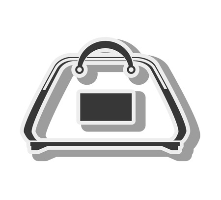 gym equipment: gym bag accessory exercise and training equipment vector illustration Illustration