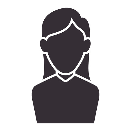 avatar woman lady smiling human person silhouette vector illustration
