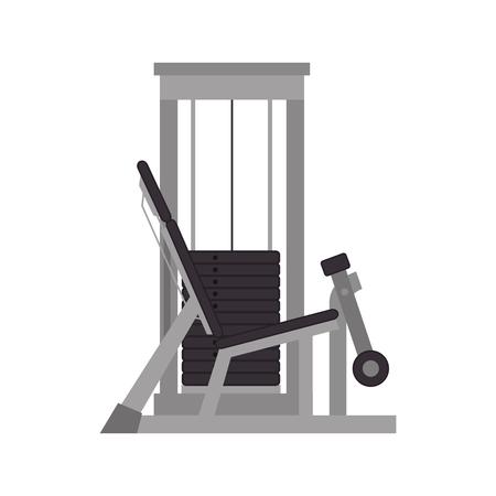 gym equipment: weights machine gym equipment  fitness lifestyle vector illustration