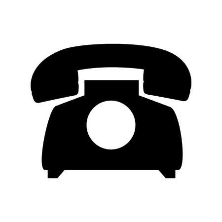 vintage telephone: retro phone vintage telephone call communication device vector illustration