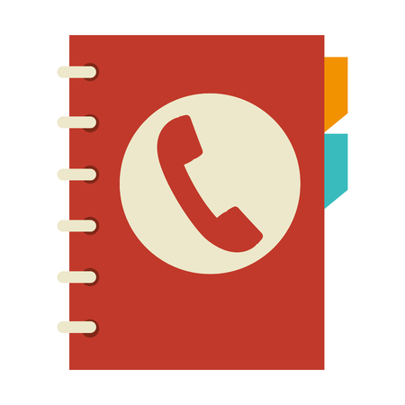 directory book: directory book agend phone icon contacts communication vector illustration
