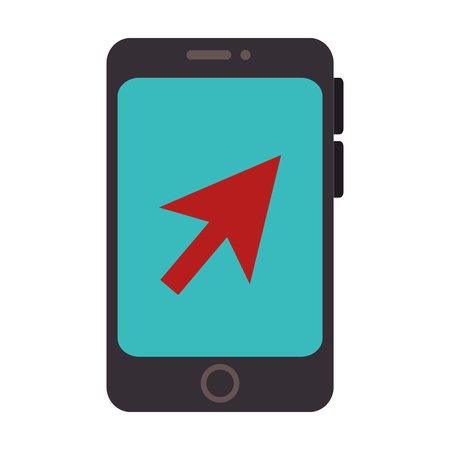 smartphone screen pointer mobile phone  technology buttons display vector illustration