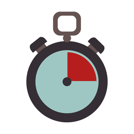 chronometer: chronometer counter time device precision clock training vector illustration