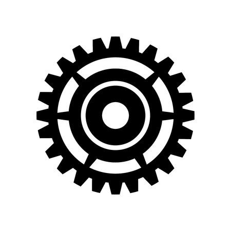 mechanism of progress: gear cogwheel device mechanical power transmission silhouette vector illustration