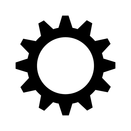 gear cogwheel device mechanical power transmission silhouette vector illustration
