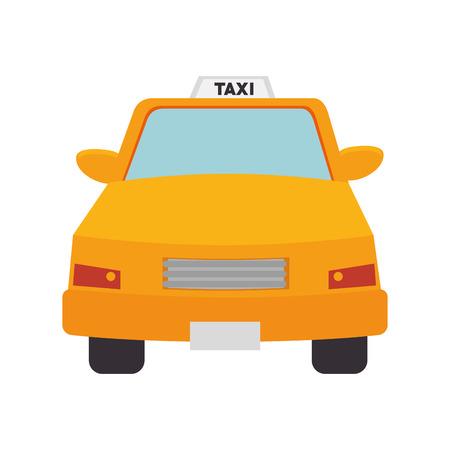 public service: taxi cab car vehicle transport public service vector illustration