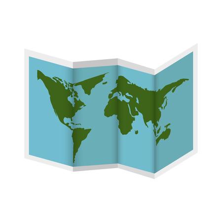 world map earth paper location continent ocean vector illustration Illustration