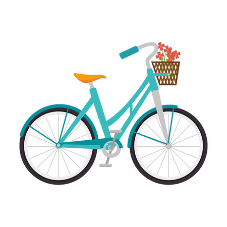 bicycle bike sport cycle transport vehicle vector illustration
