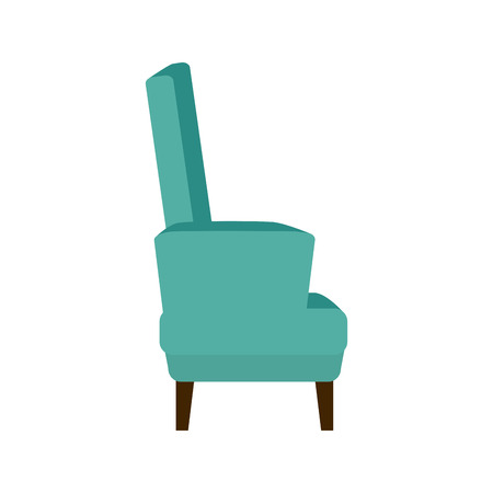 classic furniture: armchair comfortable seat classic furniture home decoration Illustration