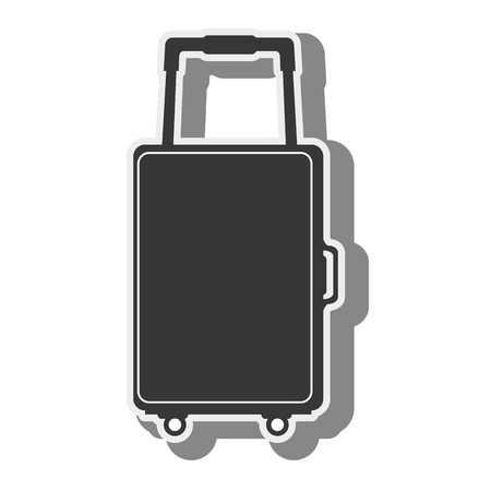 baggage: suitcase bag luggage travel baggage silhouette  vector illustration