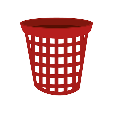 modern laundry basket laundry clothes basket container stacked domestic housework vector
