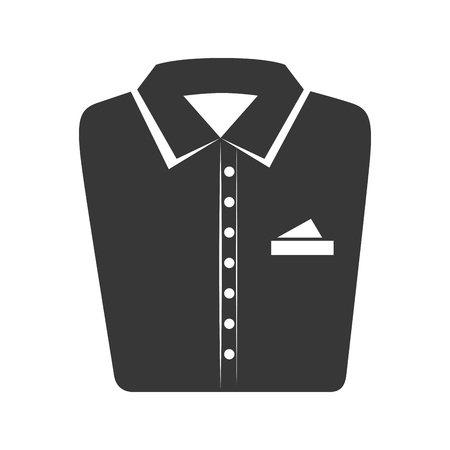 folded clothes: shirt folded elegant clothes laundry clothing silhouette vector illustration