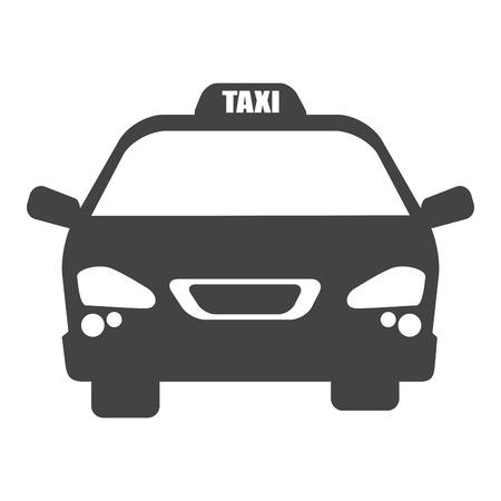 yellow cab: taxi car yellow cab service transport vehicle vector illustration Illustration