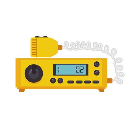 public service: radio taxi cab equipment communication public service vector illustration