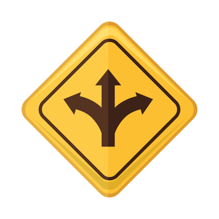 sign pole: transit arrow road sign pole warning prevention safety element vector illustration Illustration