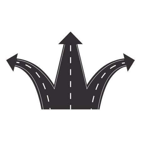 ways: arrow street direction road ways crossing vector illustration Illustration