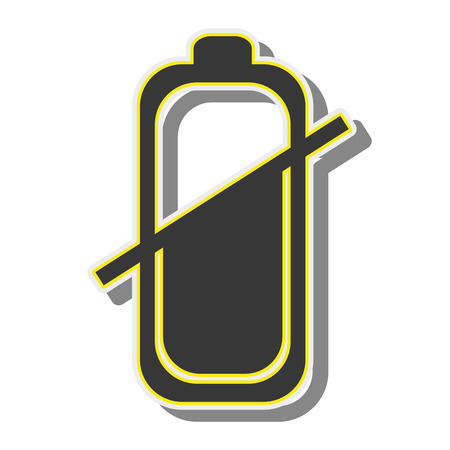 battery power energy charge level bar sign vector illustration Illustration