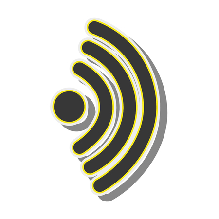 wireless signal: wifi wireless signal internet wave connection network vector illustration Illustration